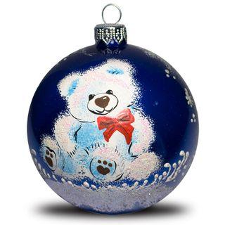 Christmas ball-Bear with a bow