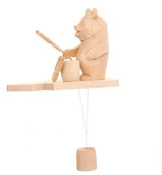 Souvenir Bear and fish, Bogorodskaya toys