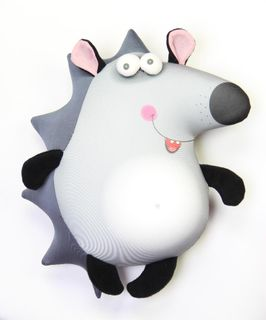 "Anti-stress toy-pillow ""bug-eyed"" Hedgehog"