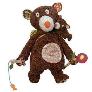 "Educational toy ""Teddy bear and baby"", 40 cm  01EB0033"