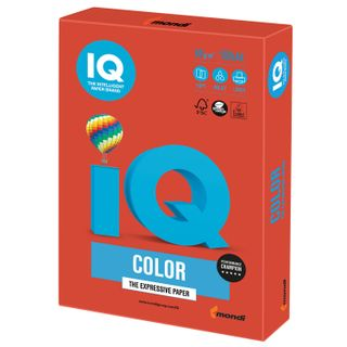 IQ COLOR / A4 paper, 80 g / m2, 100 sheets, intensive, coral red