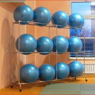 Rack for fitness balls