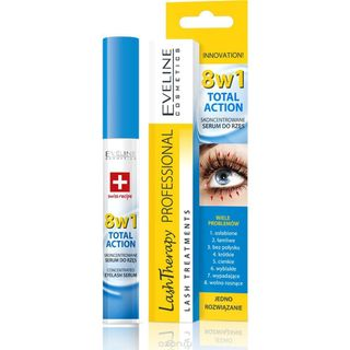 Concentrated serum for eyelashes lash series professional therapy total action 8in1 Eveline, 10ml