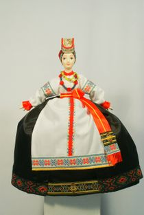 Souvenir doll on the teapot - Chaynitsa. Costume of the Voronezh province