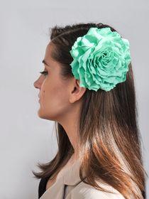 Brooch hairpin Rose mint green