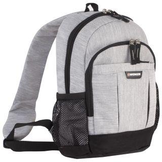 WENGER backpack with one shoulder strap, universal, gray-black, 12 l, 34х24х14 cm