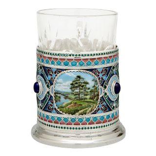 """Rostov enamel / Cup holder """"Tsar's forest"""""""