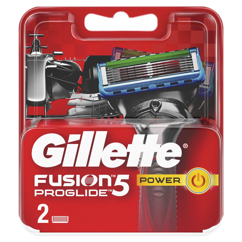 """Replacement shaving cassettes 2 pcs. GILLETTE """"Fusion ProGlide Power"""" for men"""