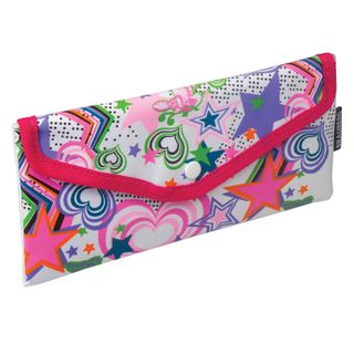 Pencil case-cosmetic bag BRAUBERG, polyester, pink and white,