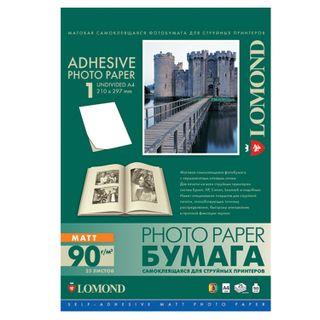 Photo paper inkjet self-ADHESIVE, A4, 90 g/m2, 25 sheets, matte LOMOND