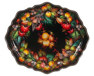 Zhostovo / Unique forged tray, author Bychkova Y. 56x48 cm