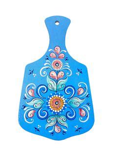 """Board kitchen wooden """"Shenkurskiy blue painted"""" 24 cm"""