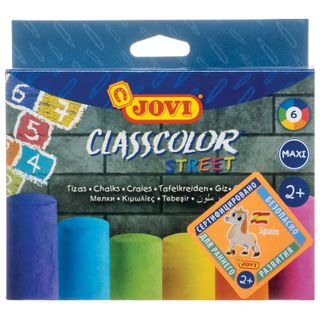 Chalk, colored JOVI (Spain), set of 6 PCs, for drawing on the pavement, round