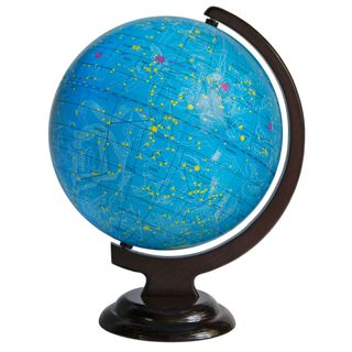 The celestial globe 250 mm on wooden stand
