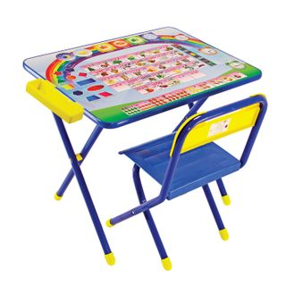 Children's table - CHAIR DEMI, height 2, folding, foam, blue frame,