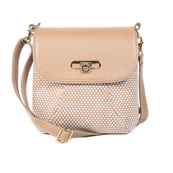Leather bag 'Paris' beige