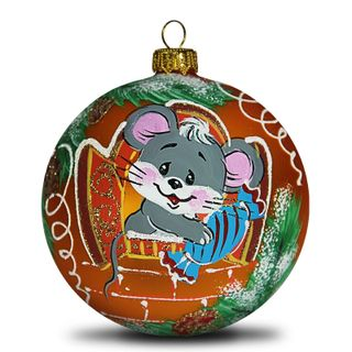 Christmas ball mouse with candy