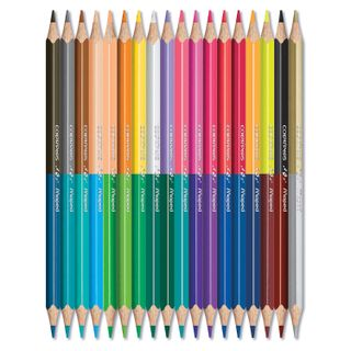 """The two-tone pencils MAPED (France) """"Color PEP's"""" 18 pieces, 36 colors, triangular, bilateral"""