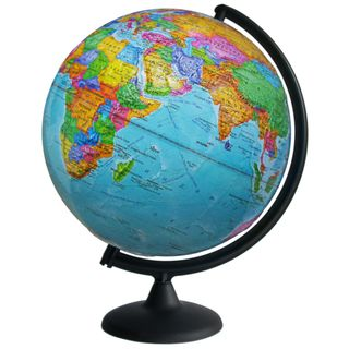 Political relief globe with a diameter of 300 mm