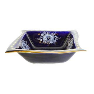 Bowl Wave, the average size of cobalt paint gold, Gzhel Porcelain factory