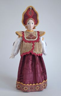 Doll gift. Russian folk costume with dushehra