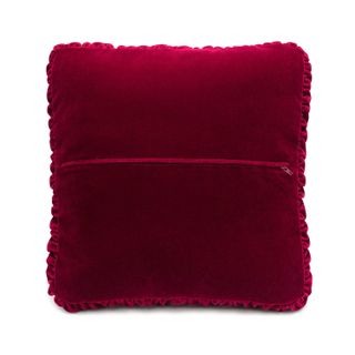 "Cushion divan ""Night"" maroon color with Golden embroidery"