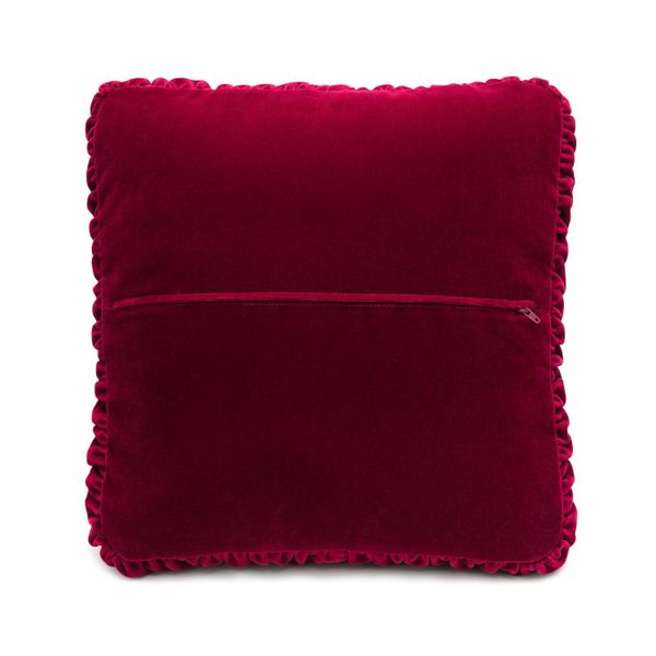 Cushion divan 'Night' maroon color with Golden embroidery