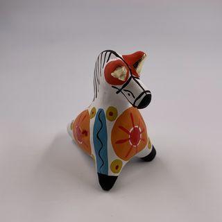 "Clay penny whistle ""Horse"", Dymkovo toy, 4.5 x 7 x 7.5"