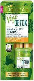 Hydrating serum for dry skin, composed of broccoli and pumpkin, VEGE DETOX, BIELENDA, 15 ml