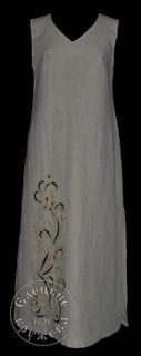 Dress womens linen embroidered С11755