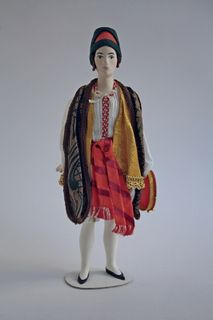 Doll gift. Suit for Jewish dance