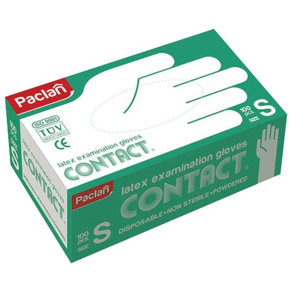 PACLAN / Powder-free nitrile gloves 'Contact', size S (small), SET 50 pairs (100 pcs.)
