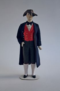 Doll gift. The male costume of the 19th century. France. Alsace
