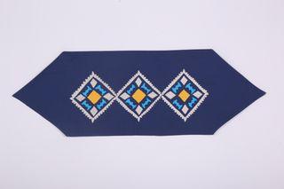 LA`AL Textiles / Coffee table runner, blue (a)