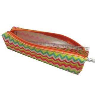Pencil case-cosmetic bag BRAUBERG, with the filling (ruler, pencil, sharpener),