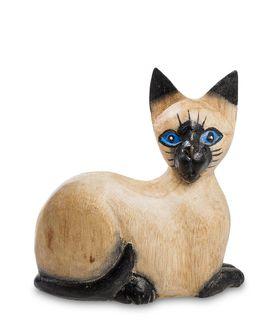 "Wooden figurine ""Kitty blue eyes"" 12 cm"