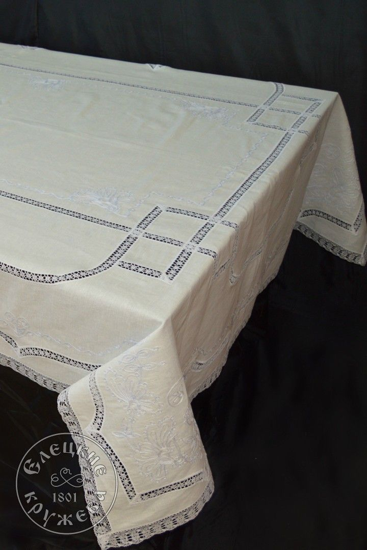"Yelets lace / Table set ""Tablecloth and napkins"" С952"