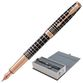 Pen pen PARKER 'Sonnet Premium Brown Rubber PGT', body brown resin with engraving, gold plated details, black - view 1