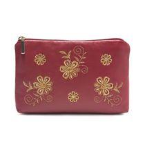 Leather cosmetic bag 'Joy'