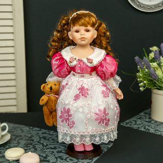 "Porcelain doll ""Masha and bear"""