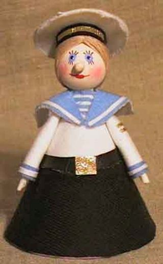Doll-poteshka gift. Sailor. Wood, textiles.