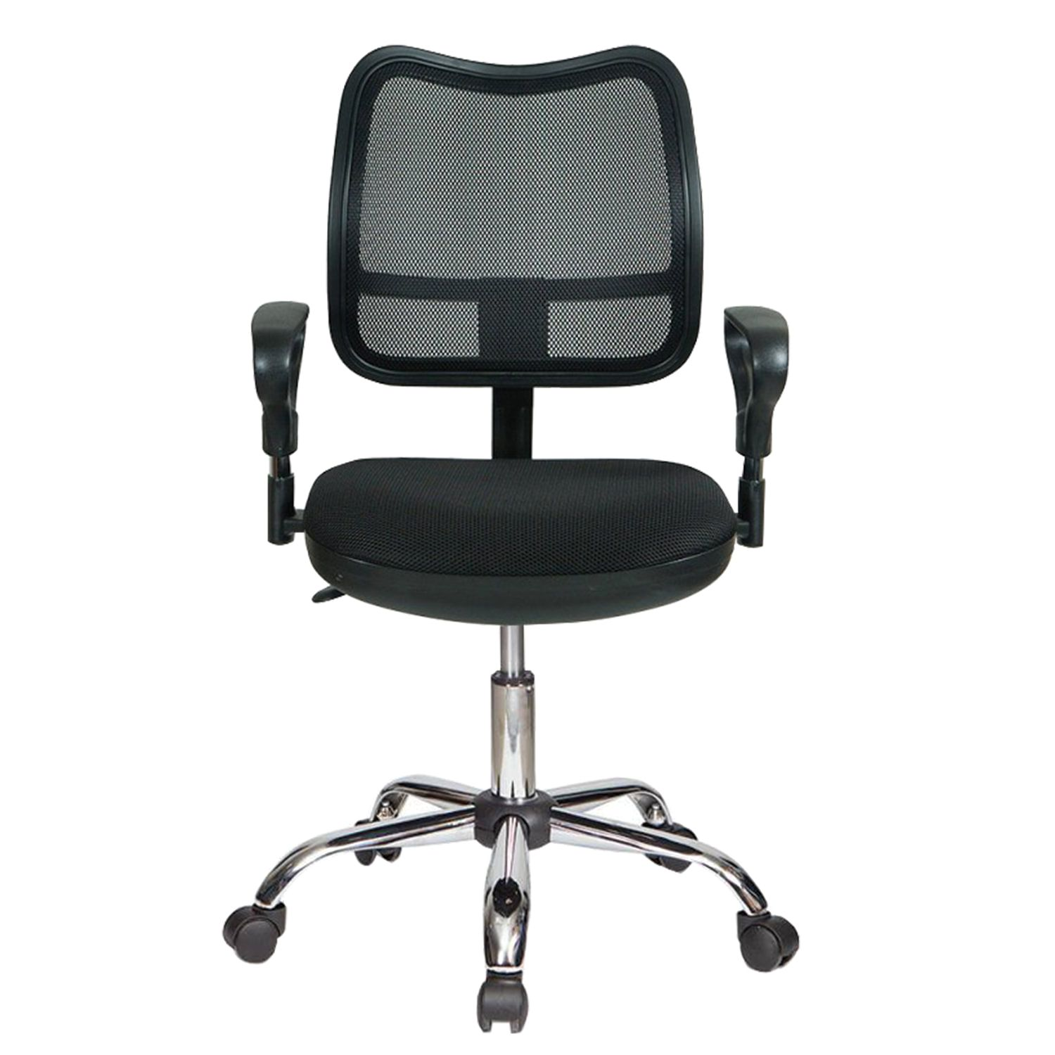 Armchair CH-799SL, with armrests, chrome, black