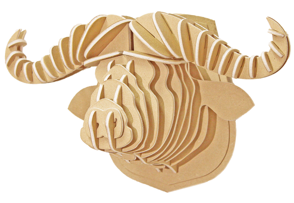 3D figure – Head of the African Buffalo KVK Brown