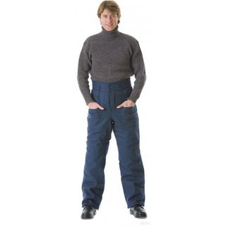 Trousers for men, insulated blue