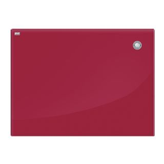 Board magnetic marker glass (60x80 cm), RED, OFFICE,