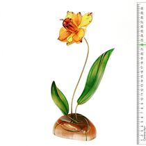 Decorative flower made of stone selenite 'Narcissus'