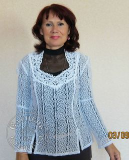 Women's chiffon blouse lace С476