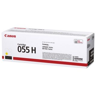 Laser cartridge CANON (055HY) for LBP663 / 664 / MF742 / 744/746, yellow, original, yield 5900 pages