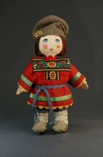 Souvenir doll Antoshka - a festive costume. Russia