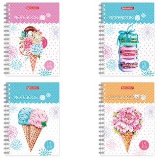 Notebook SMALL FORMAT (160x114 mm), A6, BRAUBERG, 120 sheets, comb, cage,